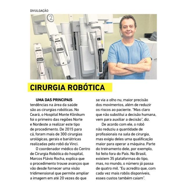 Cirurgia robótica no Ceará