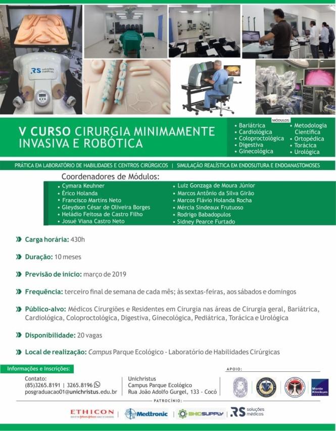 2019 03 Curso de cirurgia minimamente invasiva e robótica