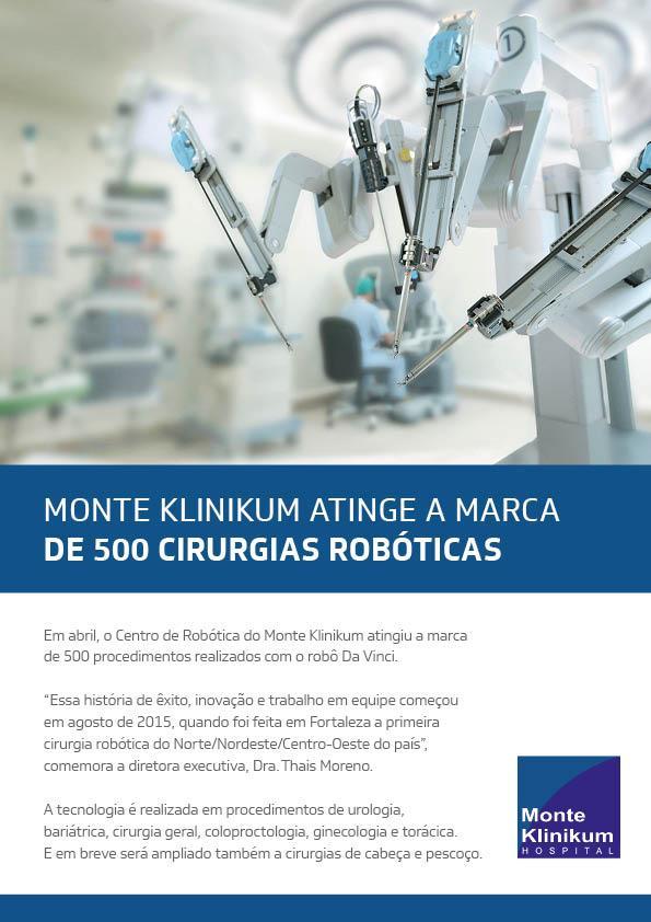 2019 05 500 cirurgias robóticas no HMK